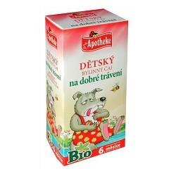 BIO Dětský čaj na dobré travení 20x1,5g Apoth.