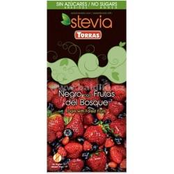 Čokoláda stevia 58% s ovocem 125g