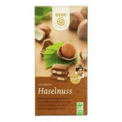 BIO Čokoláda mléčná s lískovými ořechy 100g GEPA