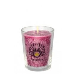 Čakrová svíce fialová mini