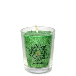 Čakrová svíce zelená mini