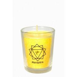 Ćakrová svíce žlutá mini