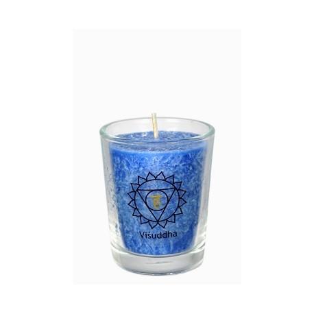 Čakrová svíce modrá mini