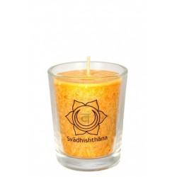 Čakrová svíce oranžová mini