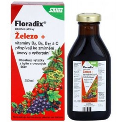 Floradix Železo + vitaminy 250ml Salus