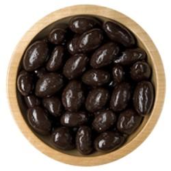 Mandle v polevě z hořké čokolády - volně