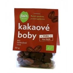 Kakaové boby celé nepražené 50g PERU